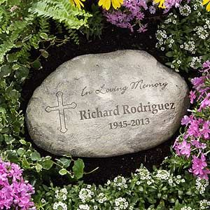 In Loving Memory Personalized Garden Stone Memorial Garden Stones Personalized Garden Stones Flower Pots Outdoor