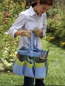 Helping Hands Garden Bag Allfreecrochet I M Thinking It Would Make One Heck Of A Craft