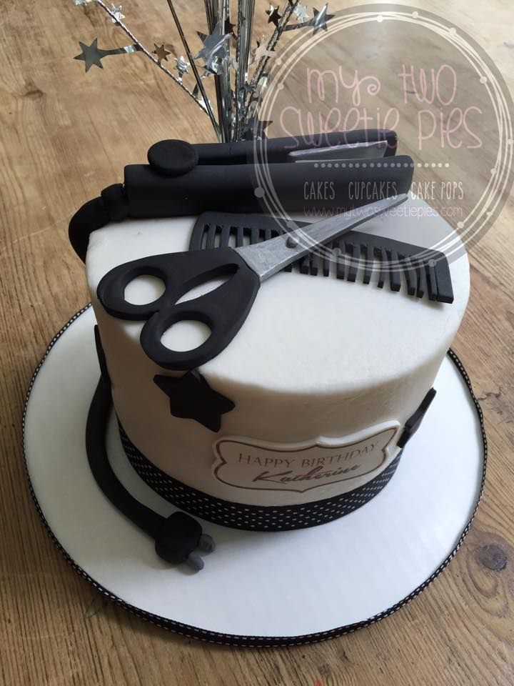 Hairdresser Cake Cosmetology Cake Cake Servings Hairdresser Cake