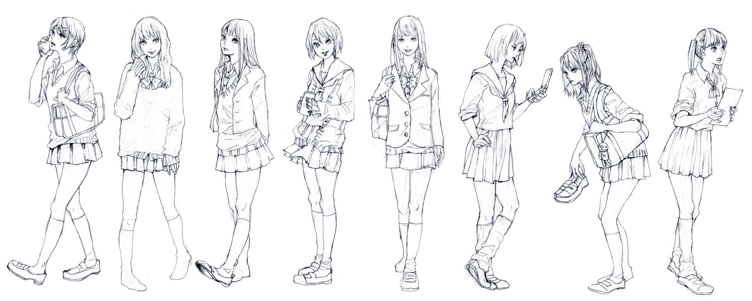 Картинки людей в полный рост аниме