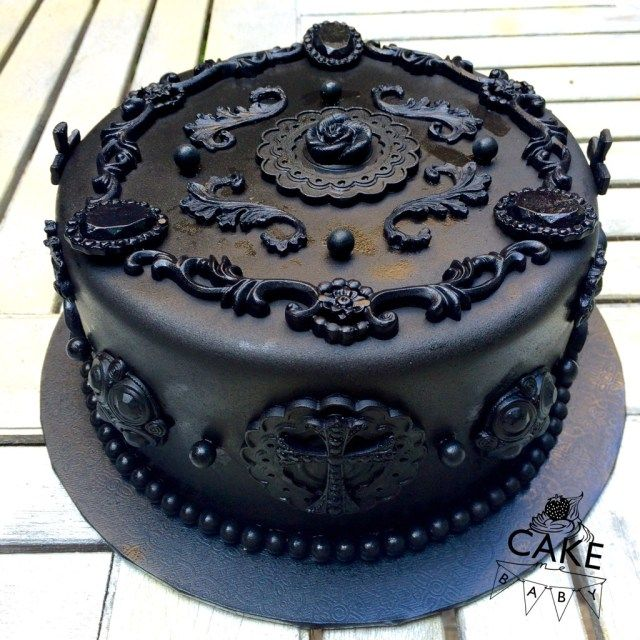 30+ Inspiration Picture of Gothic Birthday Cakes -   12 black cake Birthday ideas