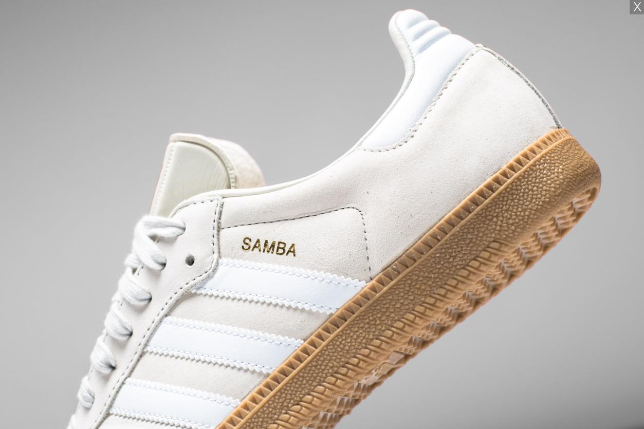 8dcca03c9 ADIDAS ORIGINALS SAMBA OG - WHITE/GUM/GOLD METALLIC | Dress it ...