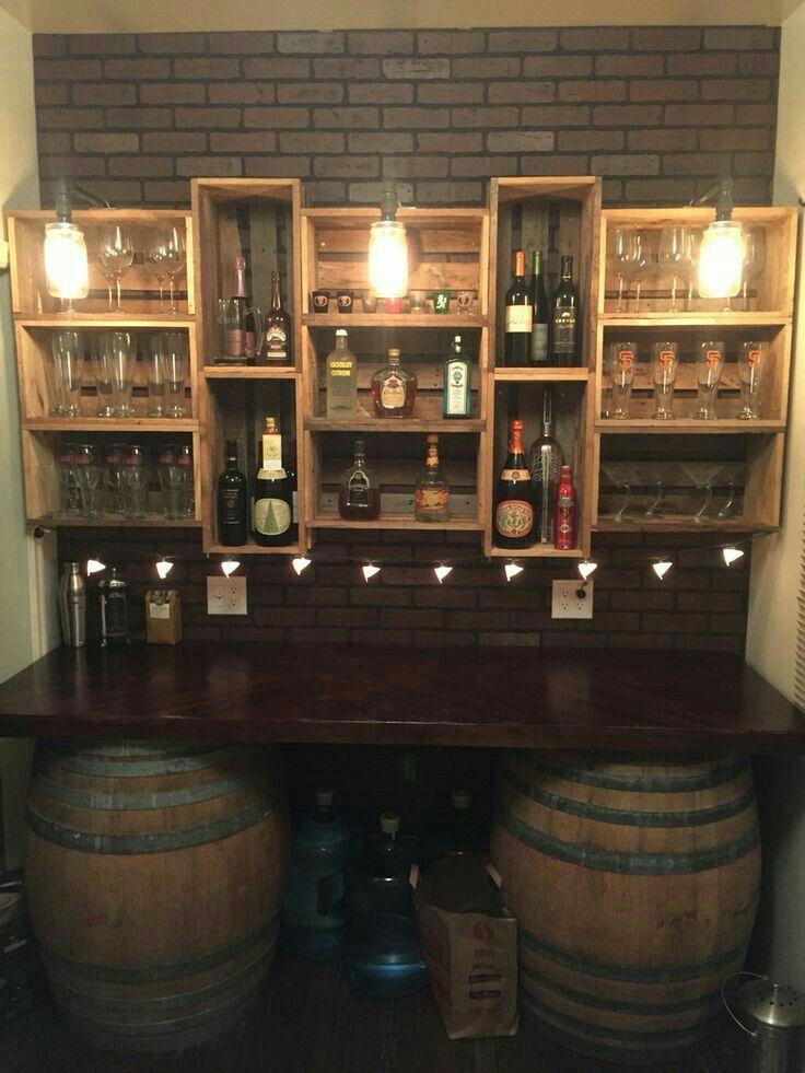 crates for basement bar storage wohnaccessoires ideen m bel keller und weinkisten. Black Bedroom Furniture Sets. Home Design Ideas