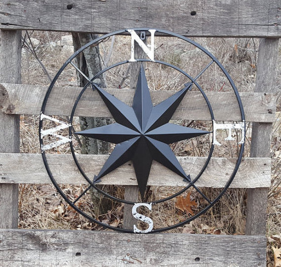 This Huge 27 Metal Compass is beautiful and is a great rustic ...