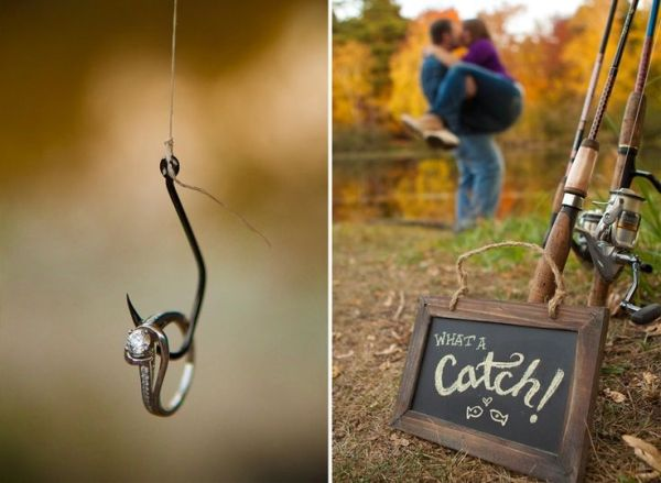 Fishing theme wedding photos with the Fraser in the background by