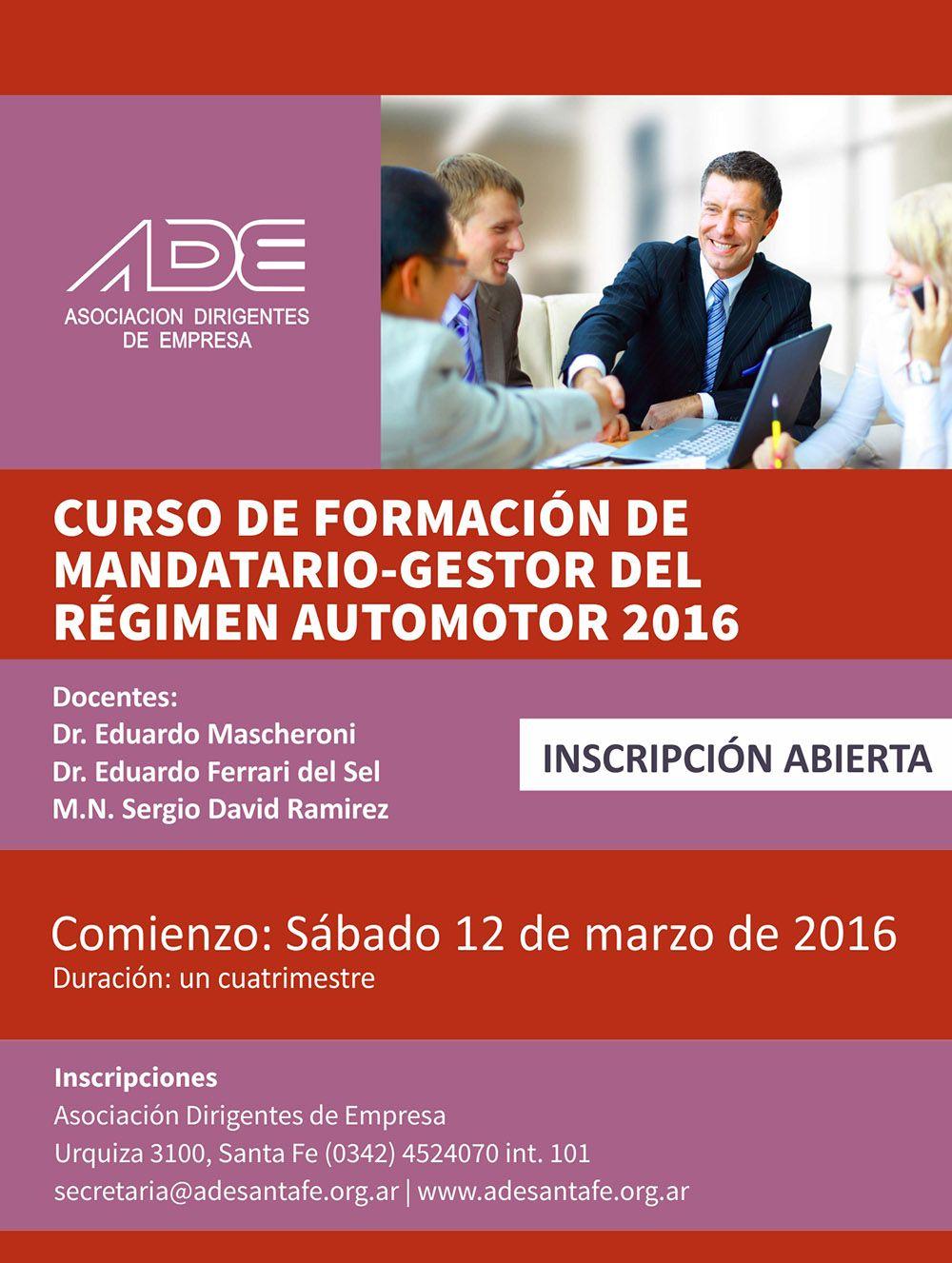 Curso de Formación de Mandatarios del Régimen Automotor (2016)
