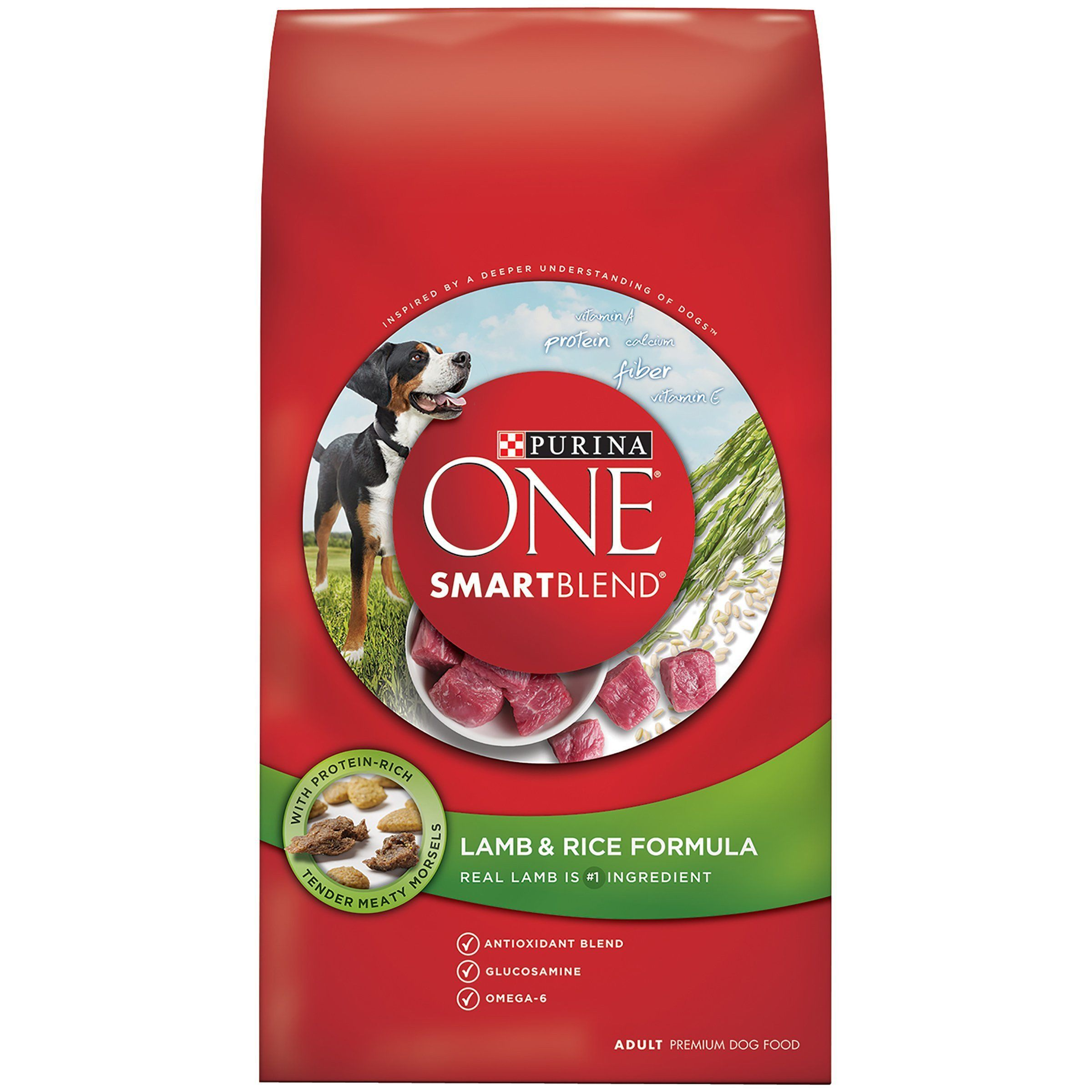 Purina ONE SmartBlend Lamb & Rice Formula Dry Dog Food Standard Packaging 31.1 lb. Bag
