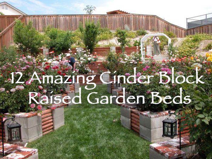 12 amazing cinder block raised garden beds off grid for Cinder block garden designs