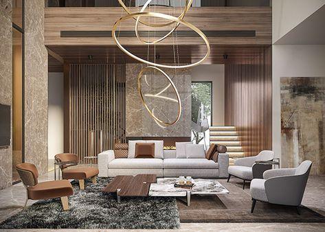 Villa In Qatar On Behance Luxury Living Room Design Luxury Living Room Contemporary Interior