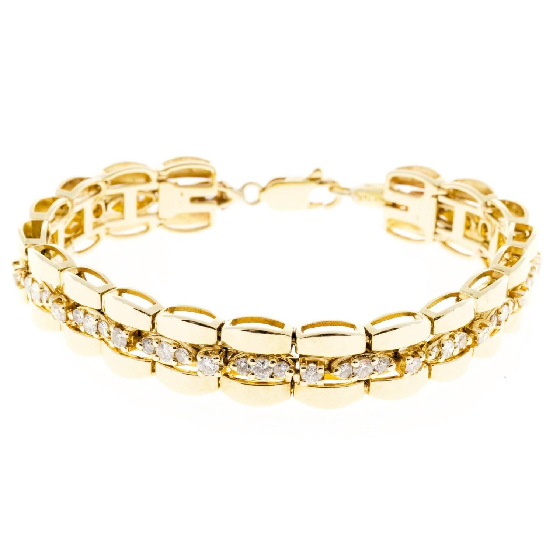 Diamond gold link bracelet diamond lobster claws and bracelets