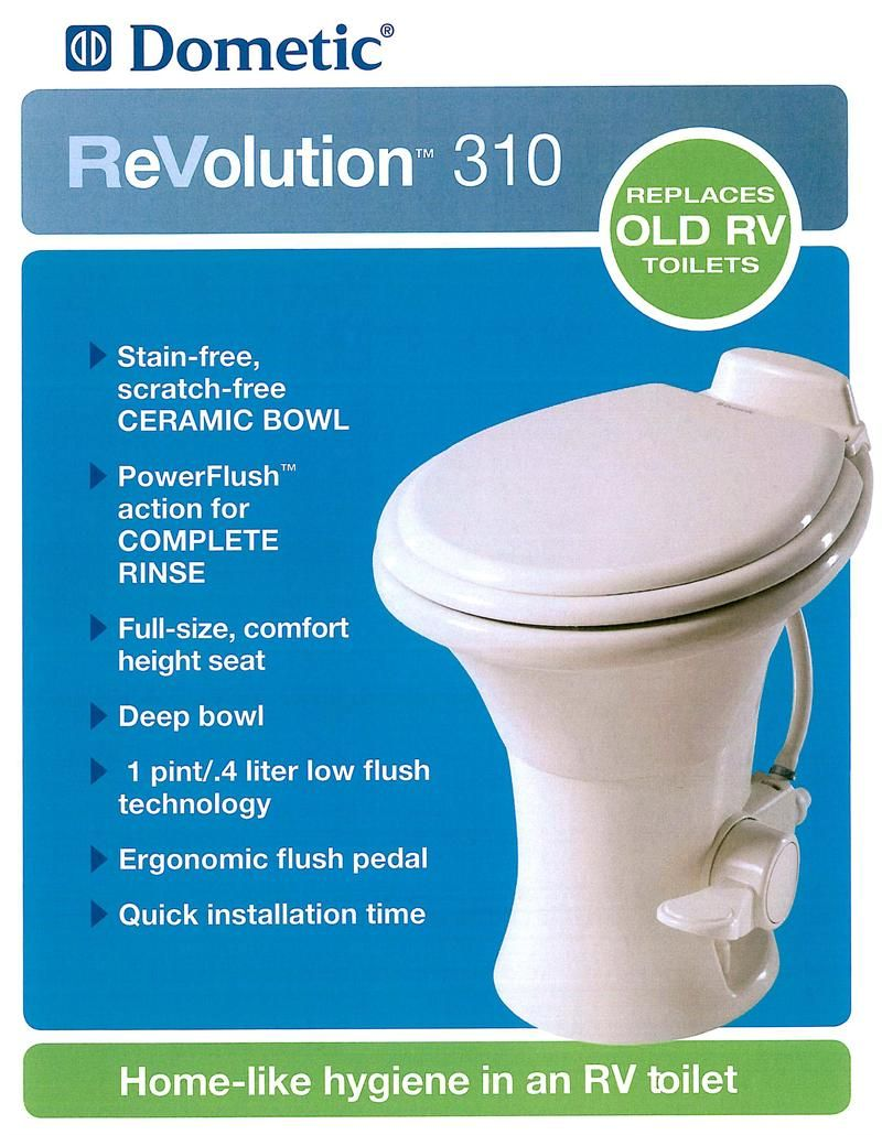 Dometic 310 RV China Toilet - Free Shipping - On Sale Now