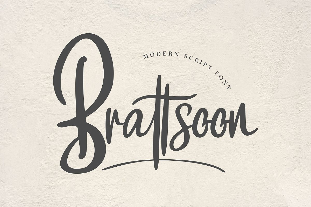 Brattsoon Modern Script Font Modern script font