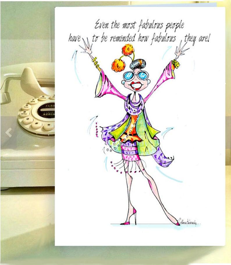 Funny Woman Birthday Cards Funny Birthday Card Women Humor Cards Funny Birthday Card For Women Fabulous Birthday In 2021 Funny Birthday Cards Birthday Cards For Women Birthday Cards