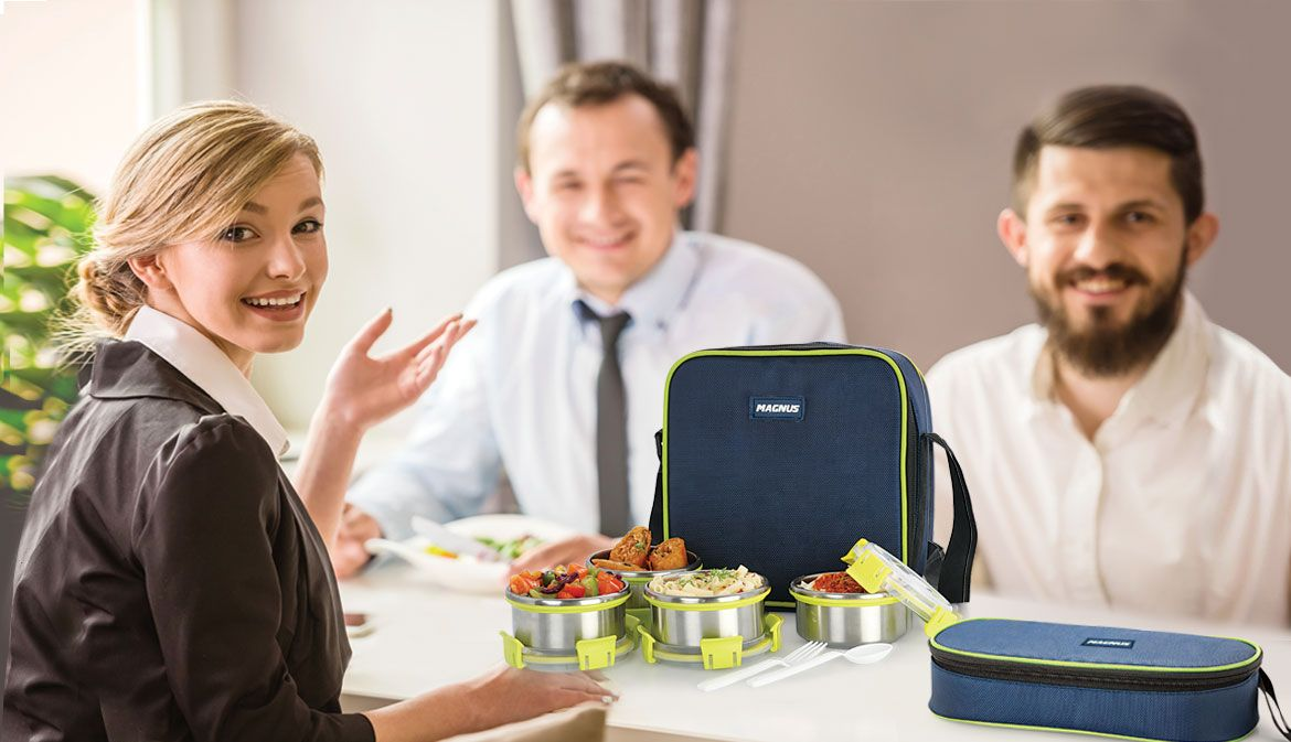 Buy new stylish steel magnus lunchboxes online at low prices in