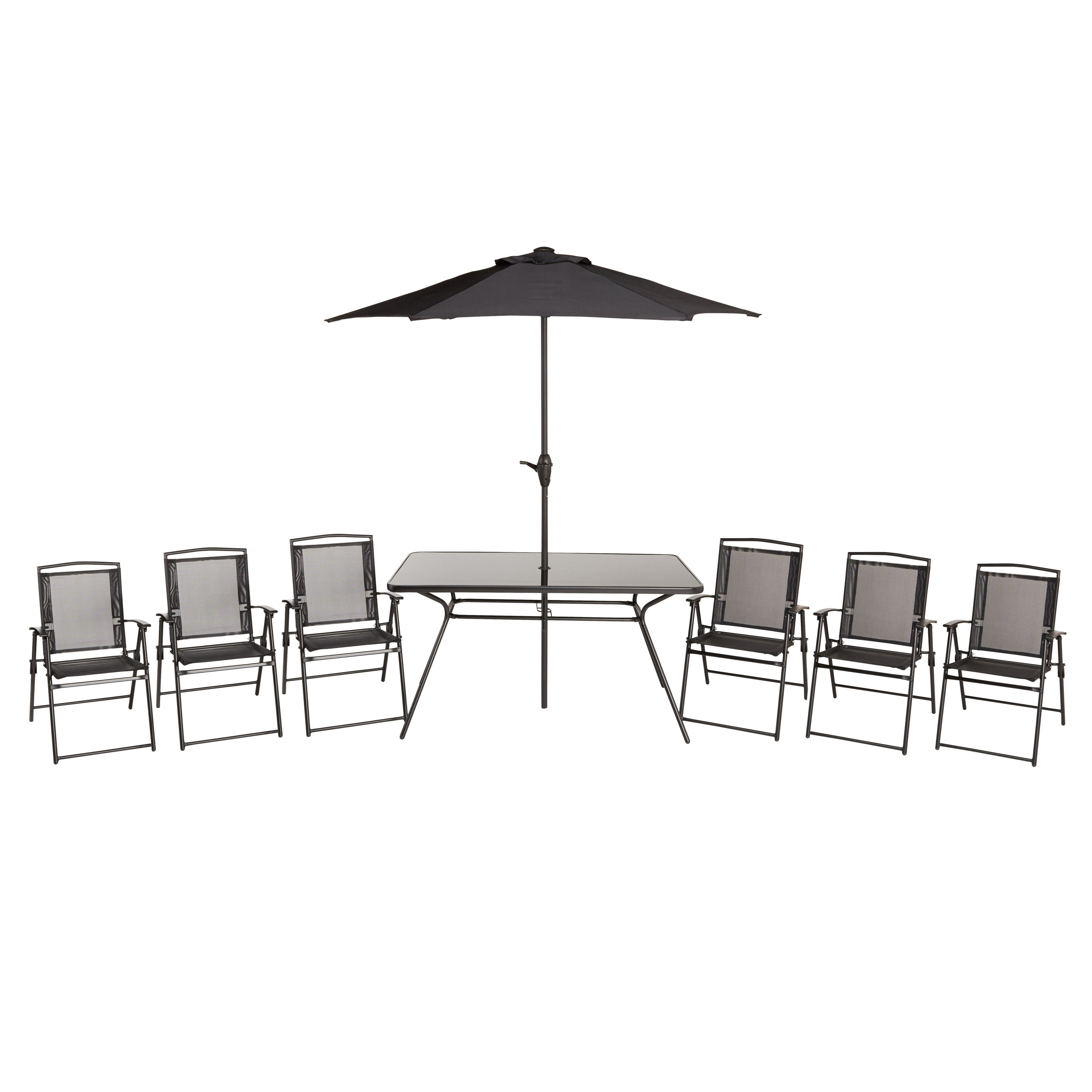 Bahama Metal 6 Seater Dining Table Chairs Departments Diy At B Q