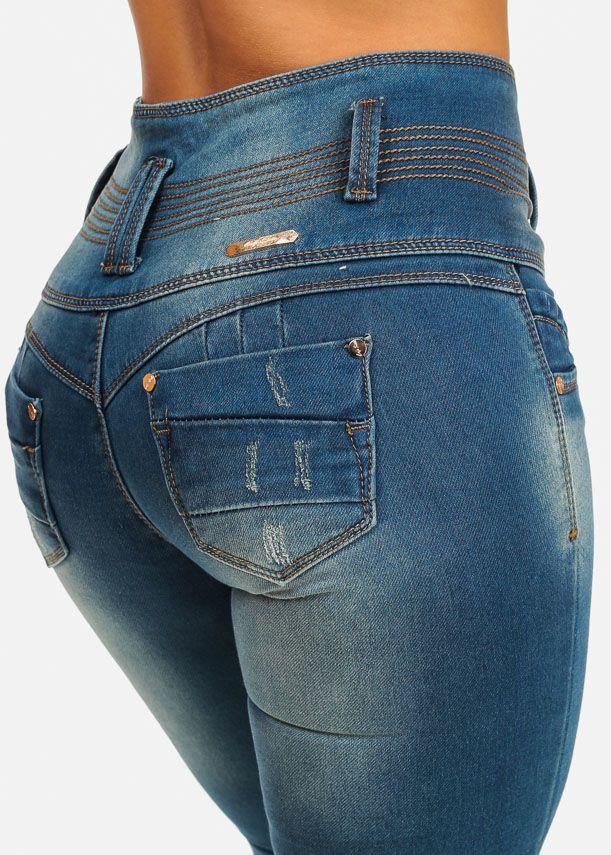 71f14b0177b Stretchy Butt Lift High Waist Skinny Jeans