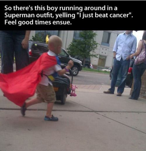 superman just beat cancer!