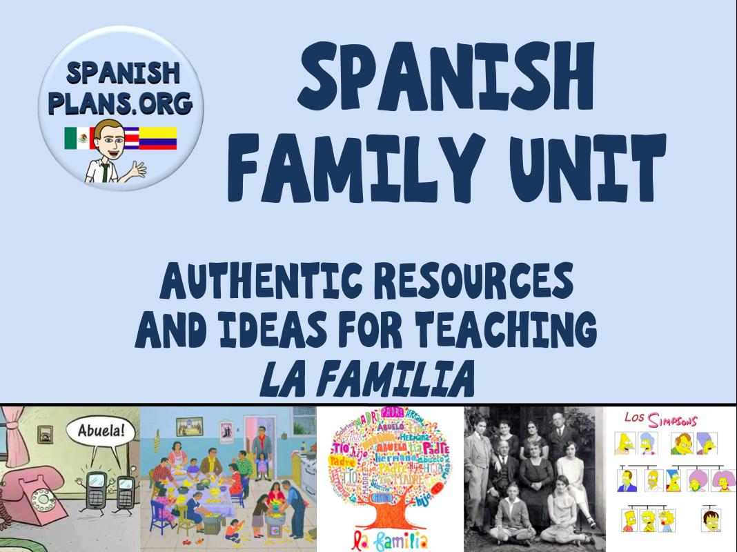 Spanish Familia Unit Pinterest Board