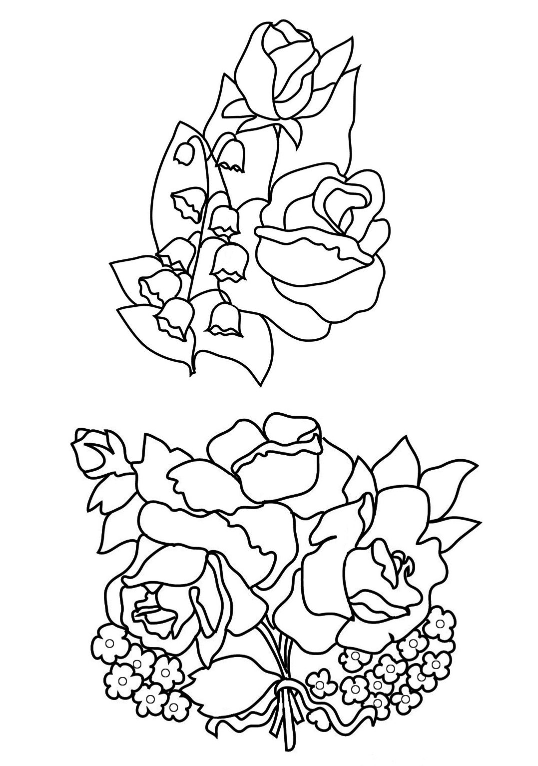 day+lily+clip+art Lily of The Valley Coloring Page