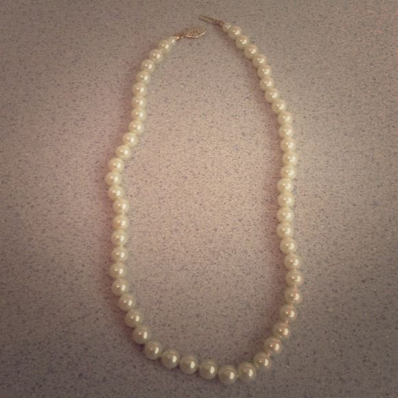 NWOT pearl necklace.  Never been worn. Never been worn pearl necklace!  Nordstrom!  Dress up your outfit! nordstrom Jewelry Necklaces