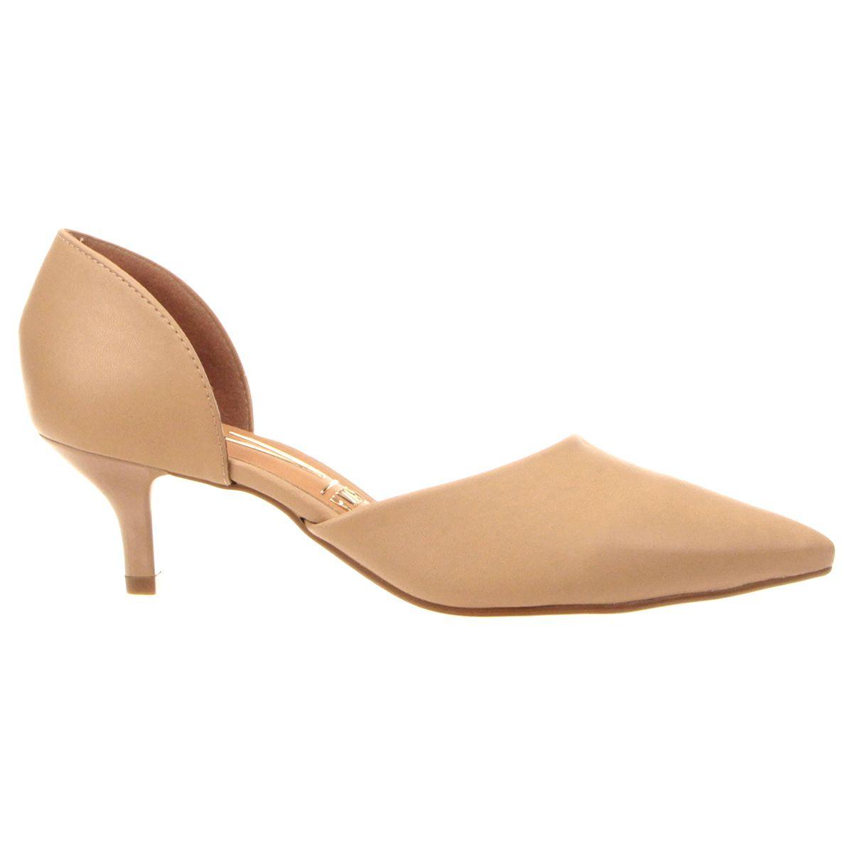 Scarpin Vizzano Salto Baixo Recorte Bege   Zattini - A nova loja de moda  online da Netshoes 72d69ea8a2