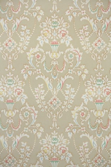 fresh florals vintage wallpaper from illinois floral vintage wallpaper pinterest papier. Black Bedroom Furniture Sets. Home Design Ideas