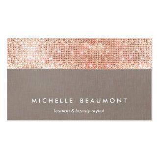 Fun modern beauty and fashion faux copper sequin business card fun modern beauty and fashion faux copper sequin business card colourmoves