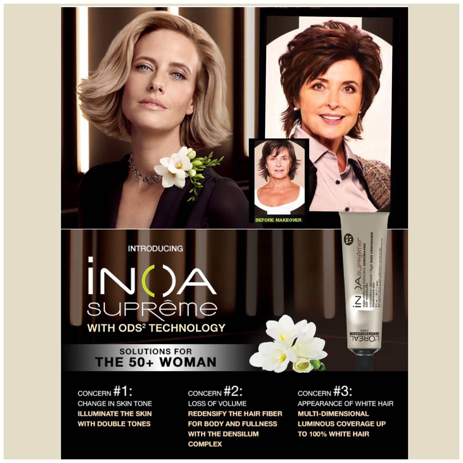 Inoa Supreme Color Hair Type Target Clients With 70 100 White