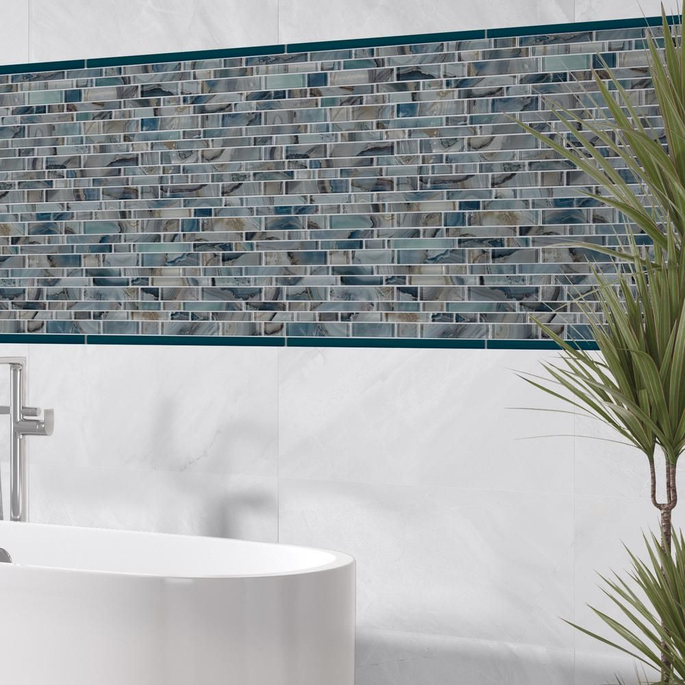 glass mesh mounted mosaic tile