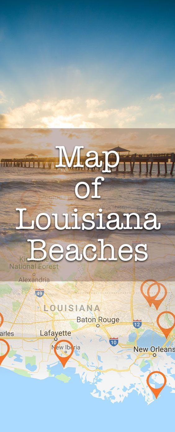 Louisiana Beaches Map. 30+ great beaches in Louisiana