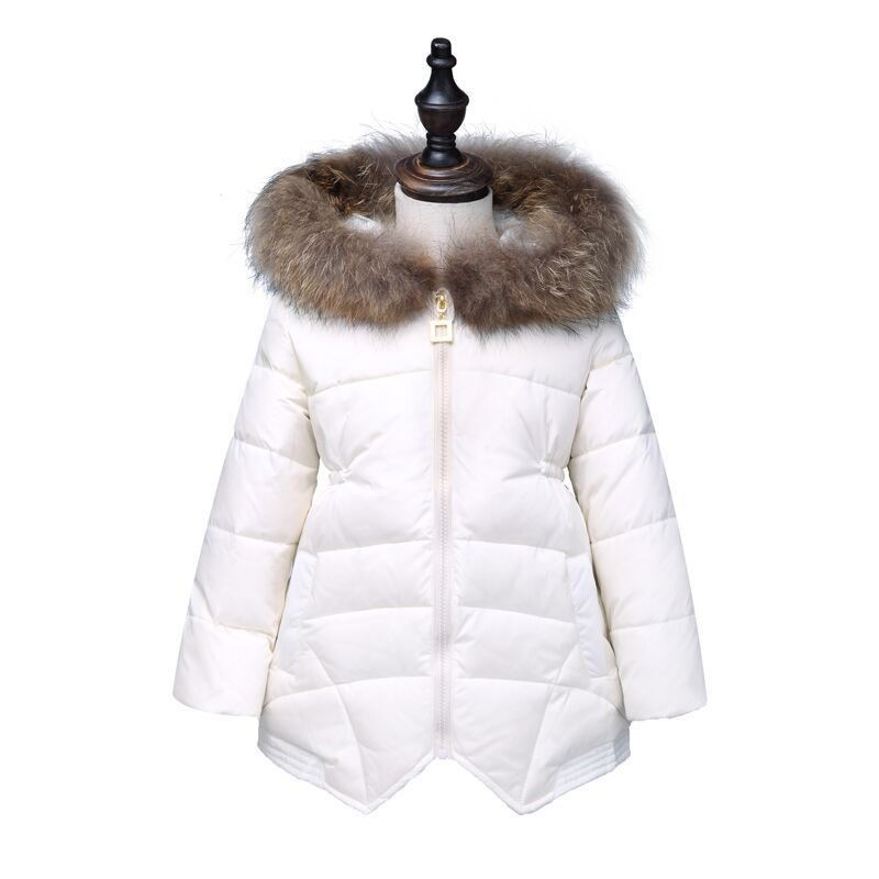 3db5beff8 fur hooded little teenage girl jackets girls winter coats 2017 thick ...