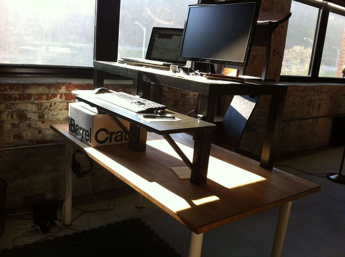 Standing desk standing desks pinterest desks and diy standing desk
