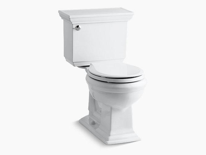 Kohler K 3933 U Memoirs Stately 1 28 Gpf Round Front Toilet With Insuliner Tank Liner Kohler Kohler Memoirs Water Sense Kohler Toilet