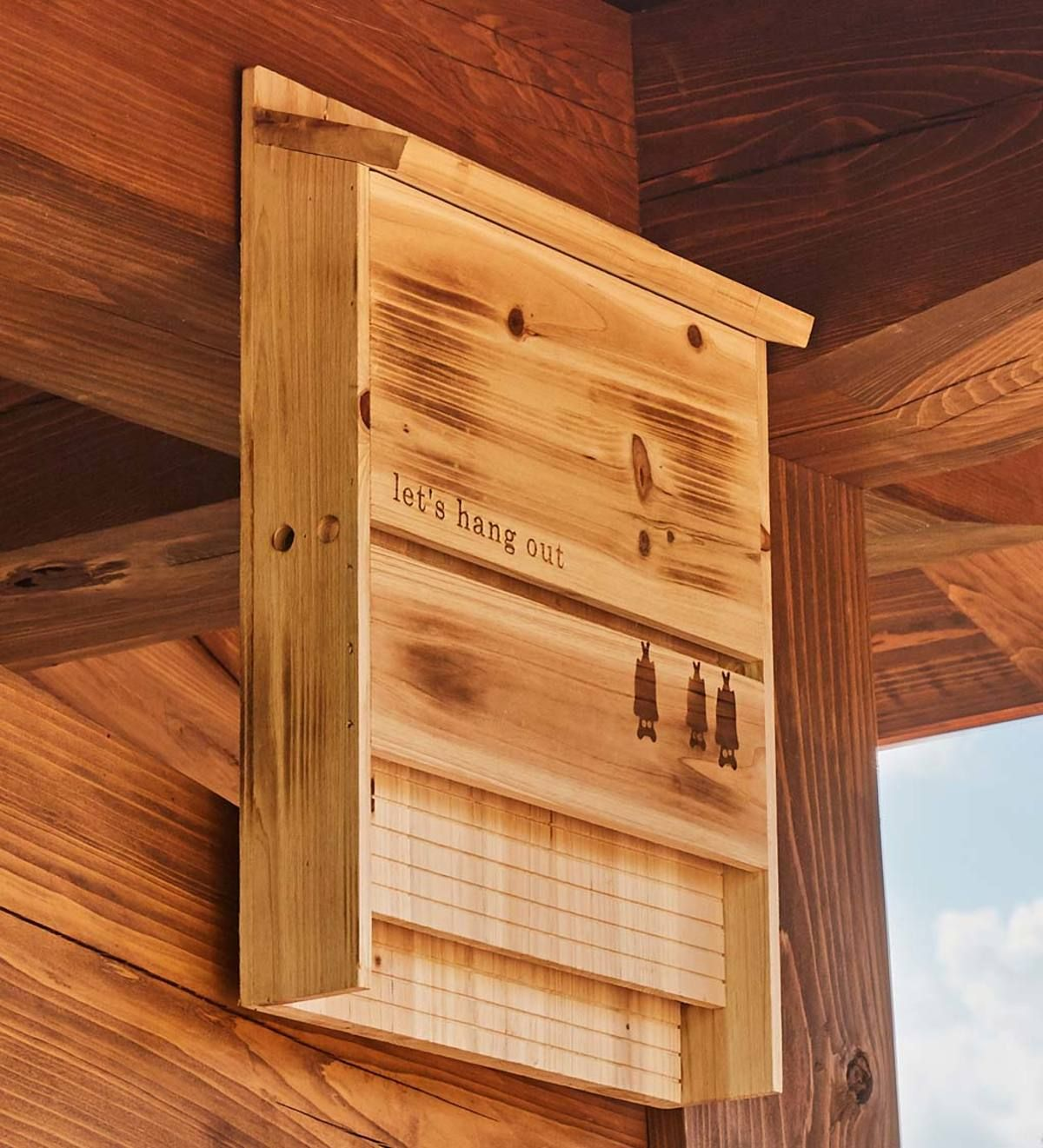Let S Hang Out Wood Bat House Will Attract Dozens Of Beneficial Bats To Your Landscape