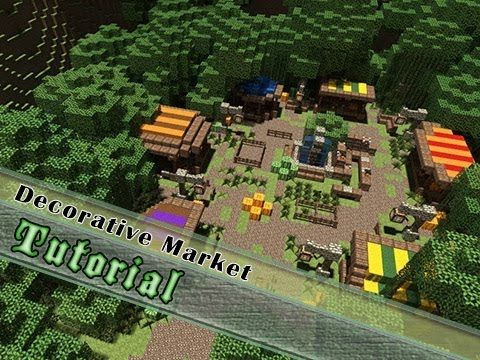 Minecraft Tutorial How To Build An Attractive Me val Market Jeracraft