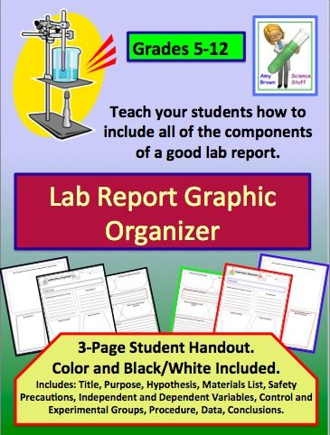 Lab Report Graphic Organizer Graphic organizers, Labs and Chemistry - chemistry lab report