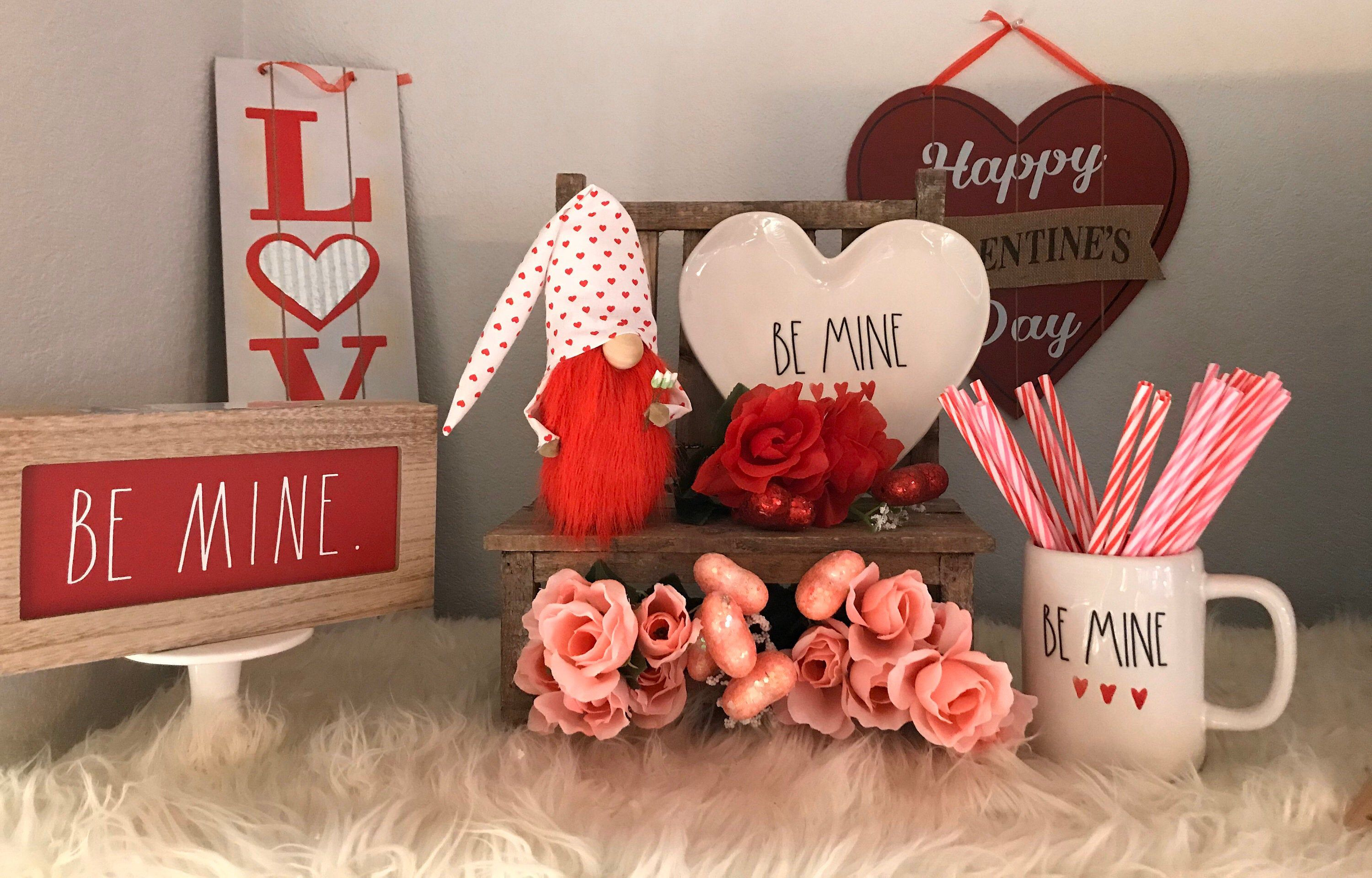 Excited To Share This Item From My Etsy Shop Valentines Gnome Love Gnome Roses Tomte Nisse Valentine Decorations Valentine Mantle Decor Valentines Mantle