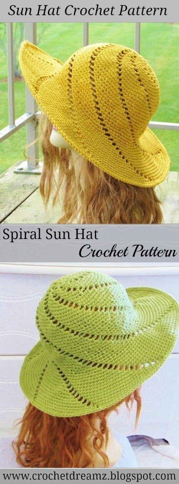 Sunsational Sun Hat, Crochet Pattern   Gorros, Ganchillo y Tejido