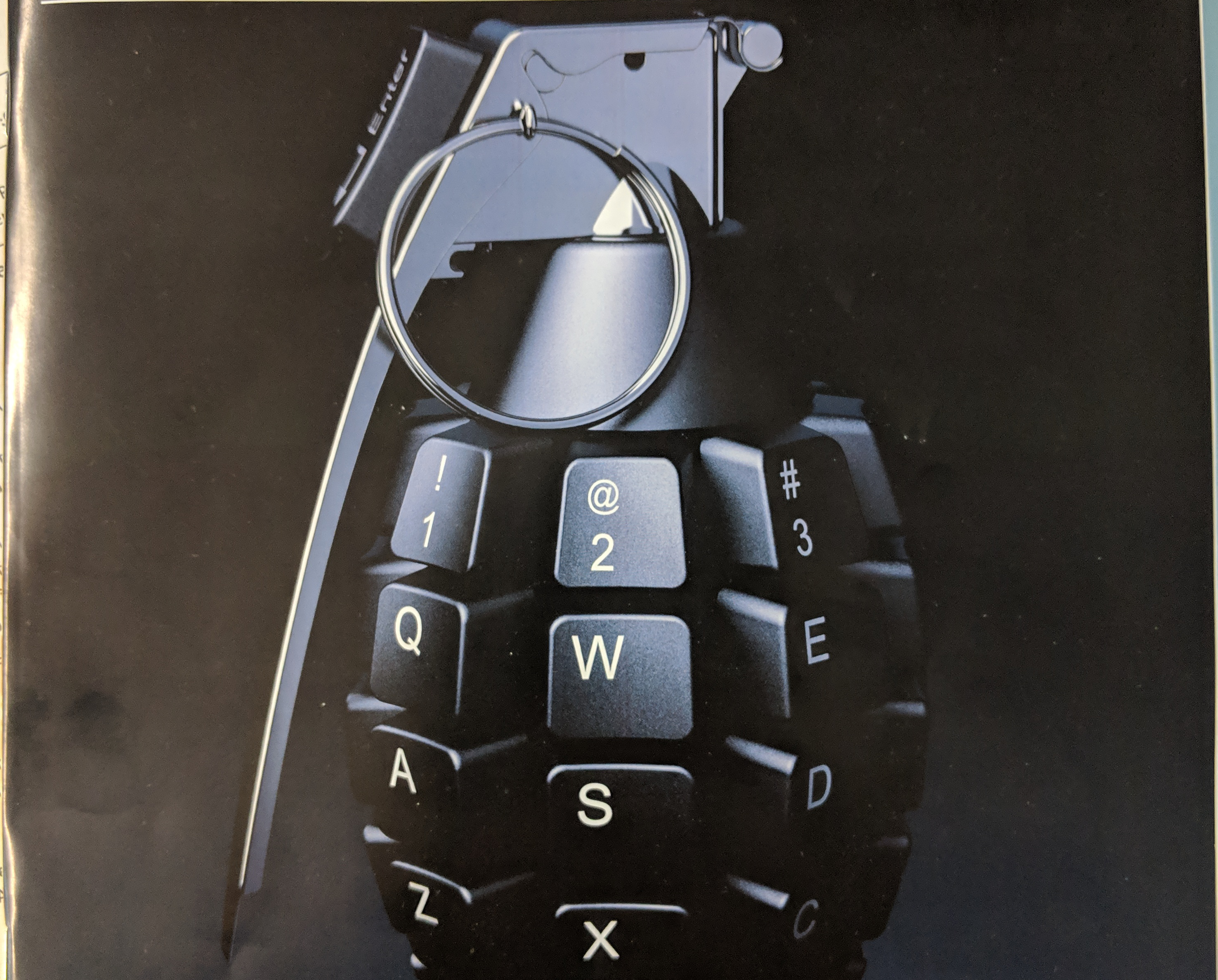 """This """"Keyboard Grenade"""" to illustrate Cyber Warfare"""