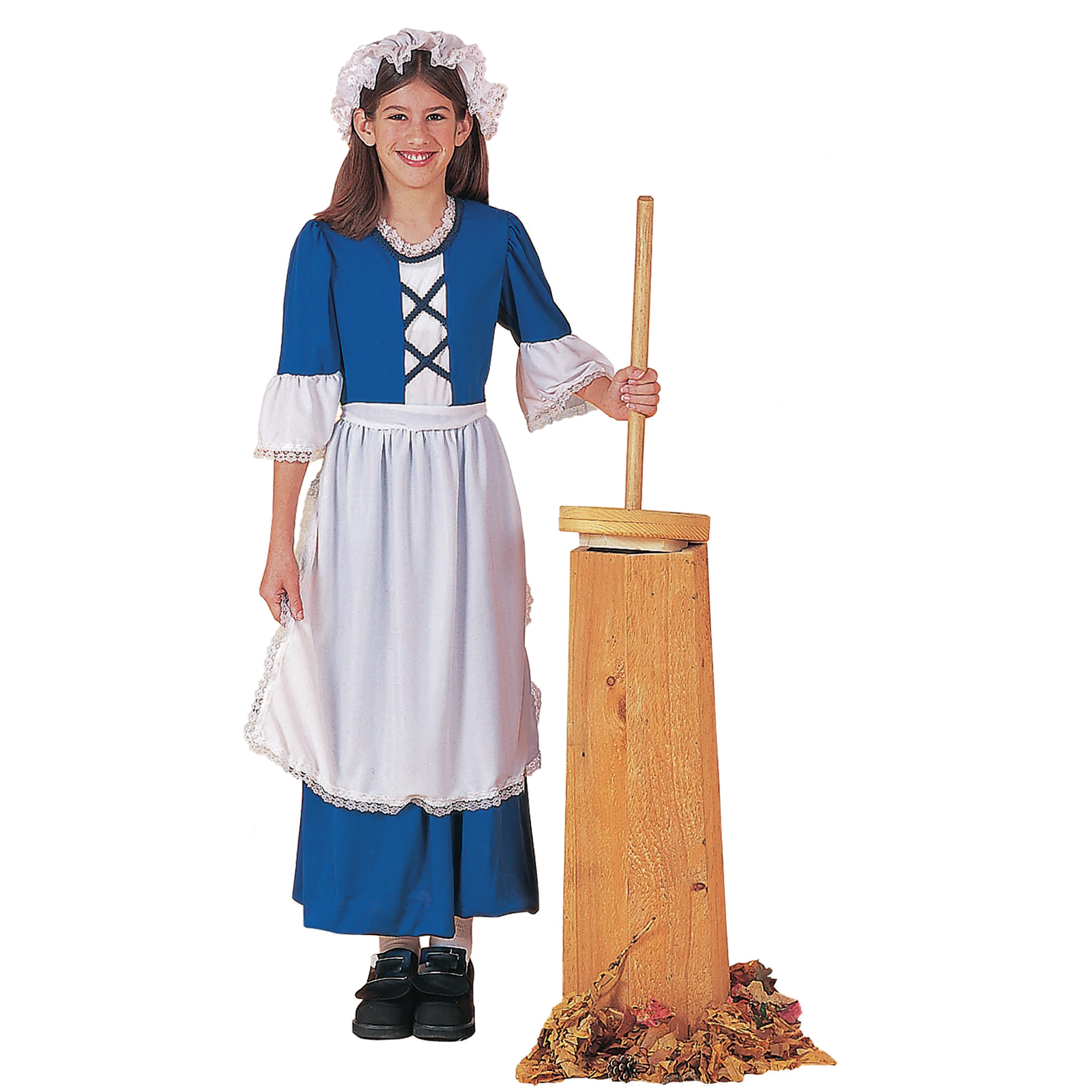 Historical Costume Colonial ~Blue Yellow Pioneer Girl~ Adult Sizes S M L XL