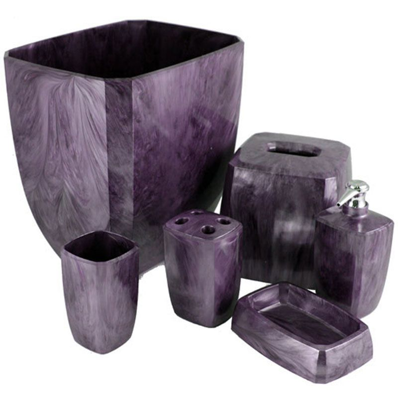 Purple Bathroom Set From Soap Dish Tumbler Toothbrush With Black And Purple  Bathroom