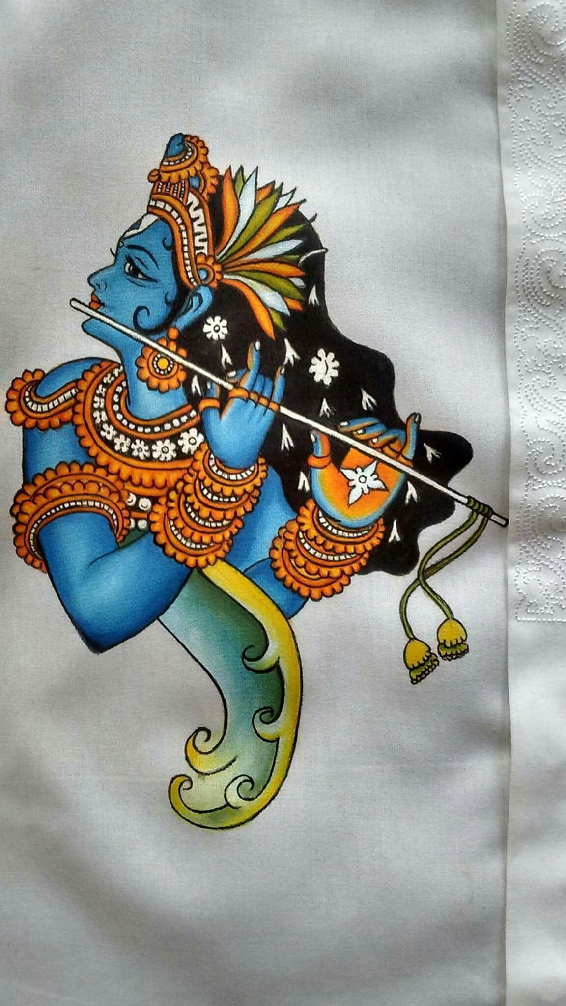 Kerala Mural Painting, Fabric