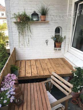 DIY-Anleitung: In 3 Schritten zur traumhaften Sitzecke auf dem Balkon von le.lolie #kleinerbalkon