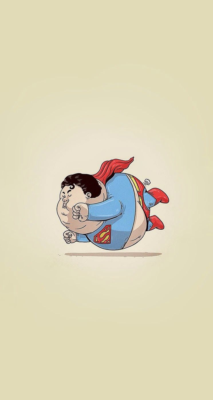 Fat Superman #superheroes iPhone wallpaper - @mobile9 | iPhone 8 & iPhone X Wallpapers, Cases ...