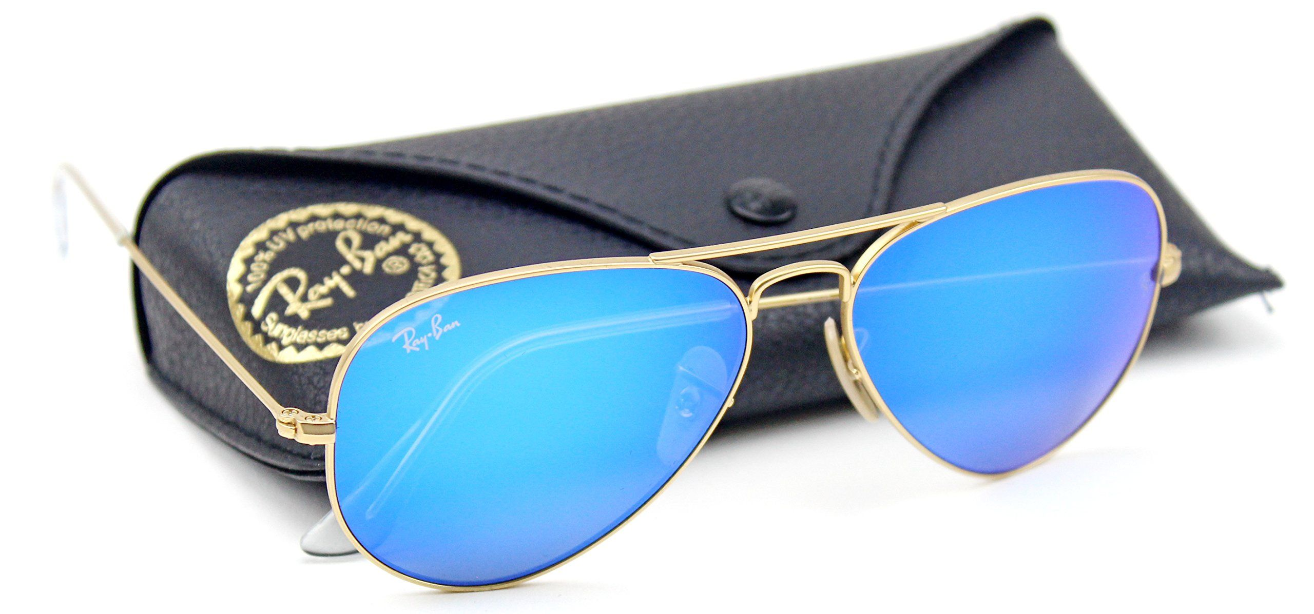 ray ban model rb3025  Ray-Ban RB3025 Unisex Aviator Sunglasses Mirrored (Matte Gold ...
