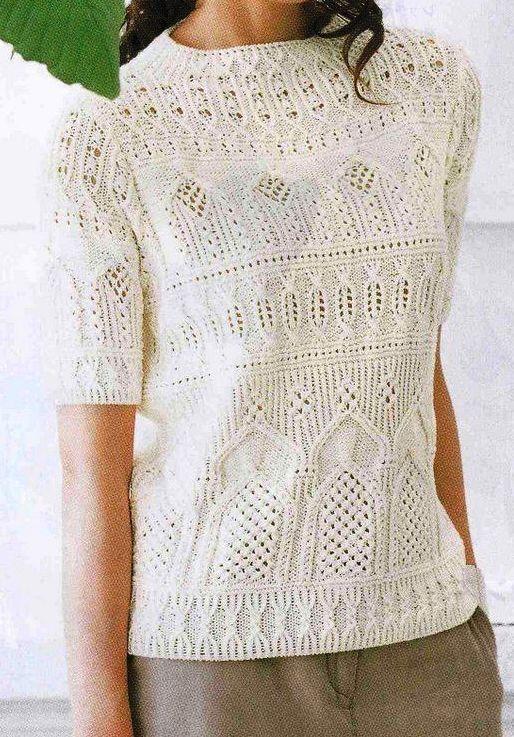 четкие схемы осинка Handmade 3 вязание свитер пальто и летние
