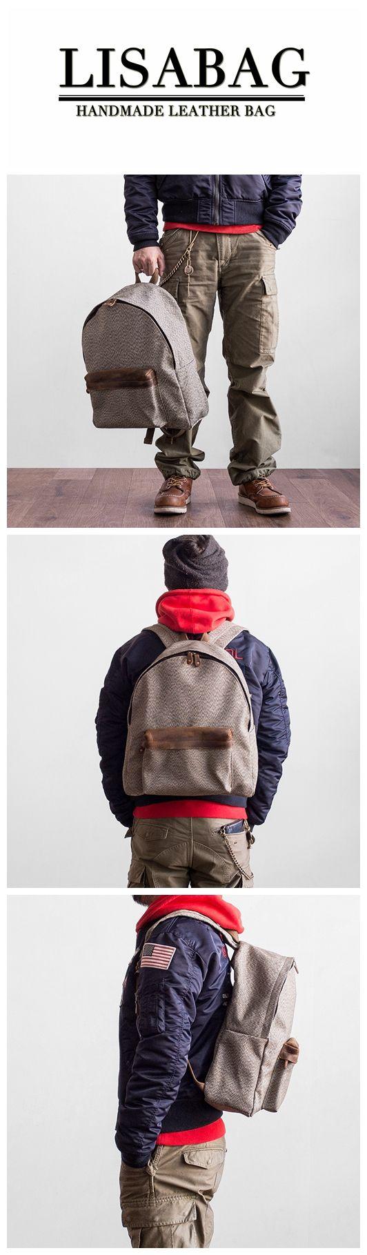 7d3c3c4046 Handcrafted Canvas School Backpack College Bag Laptop Rucksack Travel  Backpack MBL28