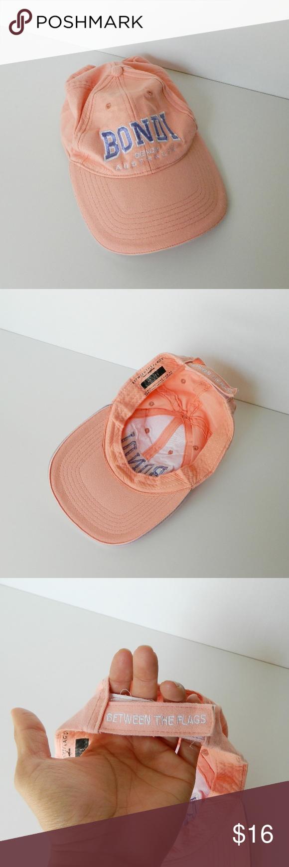Bondi Beach Australia Peach Adult Ball Cap Hat In excellent pre-owned  condition Bondi Beach dcf74e45ac0