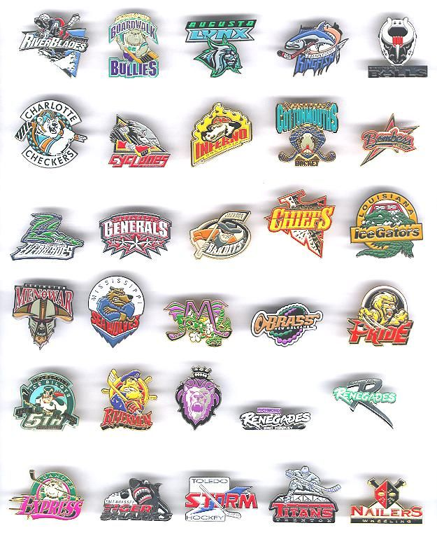 Echl Echl Pin Echl Pins Echl Hockey Pins Echl Team Pins Echl Logo Pins Pin Logo Hockey Pins