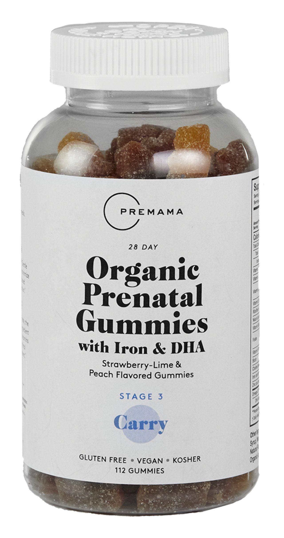 6c4b41caa PREMAMA Organic Vegan Prenatal Gummies with Iron Vegan DHA Folic Acid  Choline and Iron Gluten Free and Kosher 112 Gummies      Read more reviews  of the ...